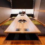 【掘りごたつ席/8名様】ファミリーから宴会までゆっくり楽しめる完全個室