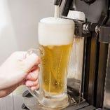 焼肉と相性抜群!冷えたビールで乾杯を♪