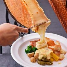 絶品チーズ料理に舌鼓を打つ
