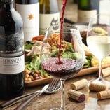 60種以上のワインは全て直輸入、リーズナブルにご提供します