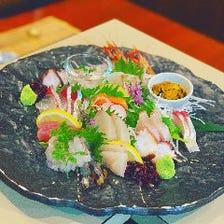 唐戸市場から毎日仕入れている鮮魚!