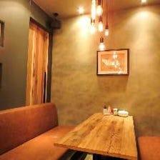 ウッド調のカフェのようなお洒落空間