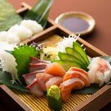 のりをのお造り盛り合わせは 手巻き寿司がセットになってます♪