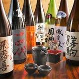 お料理に合うおすすめの日本酒を種類豊富に取り揃えております。