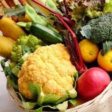地元所沢の新鮮野菜を使用