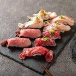 当店の肉寿司は絶品!是非ご賞味下さいませ!