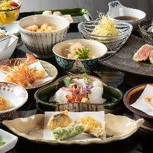 贅沢な天ぷらを会席コースで楽しむ