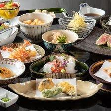 親睦会など各種ご宴会に…特選和牛ヒレなど豪華食材と旬の味覚で和やかな一席を 天ぷら会席『吉祥』全15品