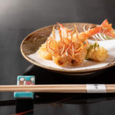 活車海老や季節の野菜、旬の魚介を巧みな職人技で 天ぷら尽くしコース『白川』全17品