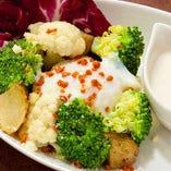 ゴロゴロ温野菜のシーザーサラダ