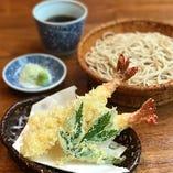 海老天ざる蕎麦