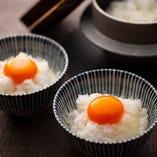 播州地卵×棚田米×足立醸造の掛け専用醤油のこだわり卵かけ御飯