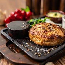 神戸ポーク100%ハンバーグ クリームマスタードソース