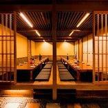 全28席の個室は様々なシチュエーションでご利用いただけます。
