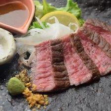 山口県産牛の藁焼きステーキ