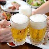 こだわりビールと唐揚で乾杯!宴会コースは飲み放題付5,500円~