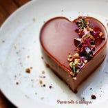 特典③ イタリア産生チョコのハート型パンナコッタ