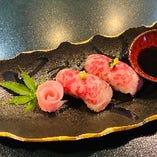 和牛タタキの寿司