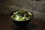 地海苔と葱の塩サラダ
