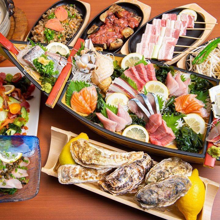【ぐるなびからのご予約で500円引き】サッポロクラシック込み飲み放題2時間付きお料理全8品