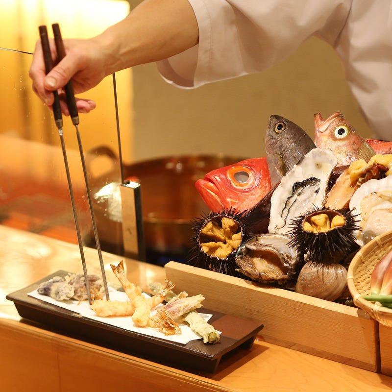 【1日2組限定】贅沢で粋な◇カウンター限定『特撰天ぷらコース』《全7品》5360円