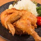 若鶏半身の五泉揚げ(カレー・ガーリック・うま塩)