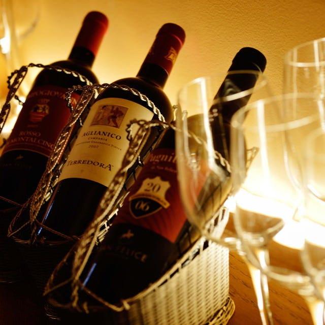20州の多彩なワインを完備