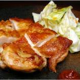 『丸亀焼き』 特製辛みそとパリパリした鶏皮との組合せが絶妙!