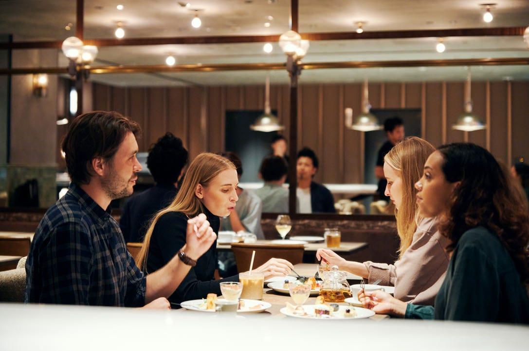 デザートプレートにはカフェのフリーフローが付いてお得です