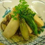 炊合せ 筍 若芽 山うど ぜんまい タラの芽 菜の花 春