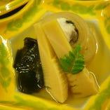 炊合せ 桜鯛の奉書煮 若竹煮 春