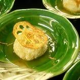 揚物 蓮根と海老のもちもち饅頭 秋