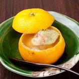 蒸し物 柚子釜 ずわい蟹の蕪蒸し 冬