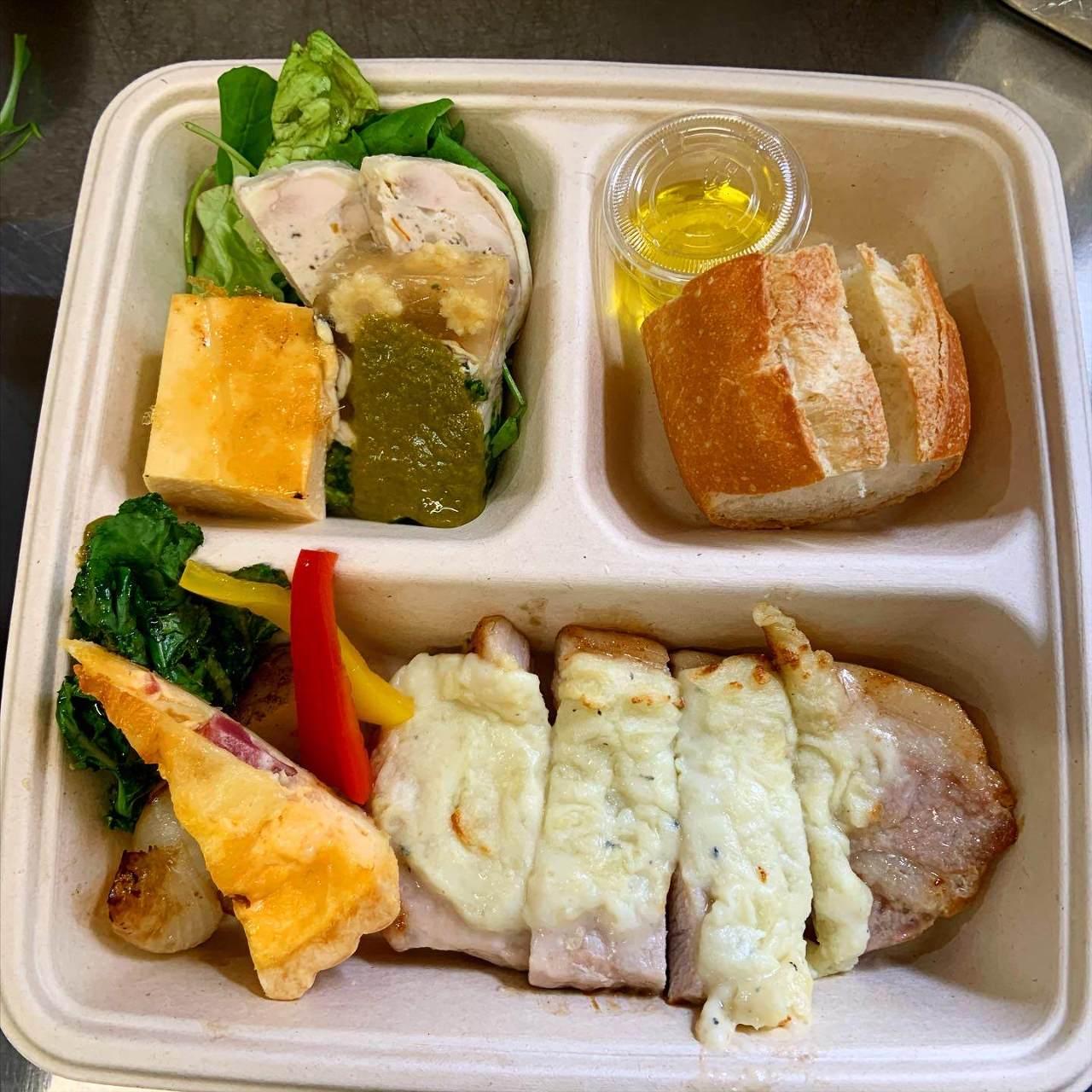 「フレンチBOX」 前菜・メイン・パン・デザートの充実BOX
