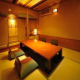会食、会合、接待に人気の完全個室(写真は4名様用)