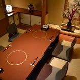 完全個室の掘りコタツ席。 接待や会食・デートには最適です
