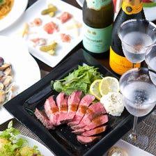 <当店一番人気のお料理全4品+2時間飲み放題付Partyコース 3,500円(税抜)>4名様~