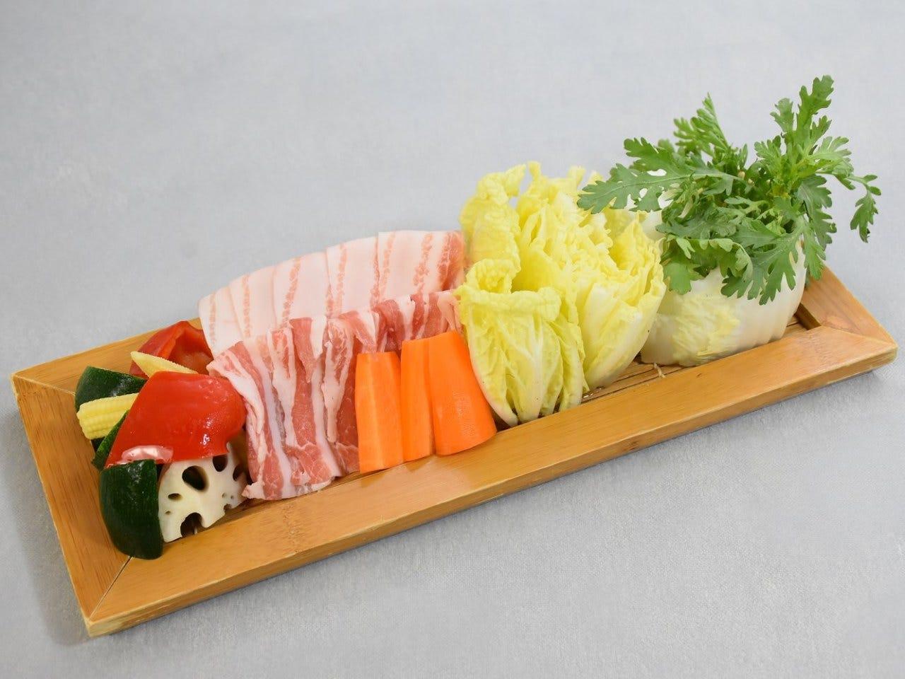 茨城県産の食材を使ったお料理