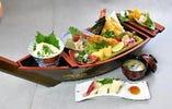 宝船膳 おいしいお刺身と天ぷら、豆富をご堪能下さい