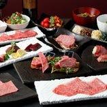 A5雌牛赤身肉を存分に味わえるコースは7,680円~ご用意!