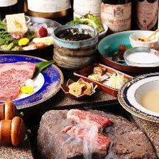 創業74年食肉直営店の石焼きステーキ