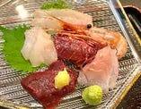 三陸沖の新鮮な魚介の『お刺身定食』