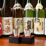 全国各地より、お料理に合う日本酒を各種ご用意しております。その時期限定の日本酒も随時入荷しております!