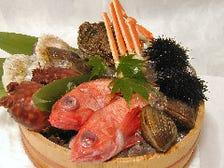 三陸産を中心とした新鮮魚介