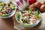 新鮮野菜をたっぷりと、NYスタイルのチョップドサラダ