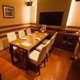 【5つの個室】4名~45名の目的別個室をご用意してます。