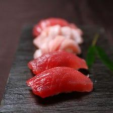 ■旬の新鮮魚介を使った寿司懐石