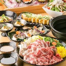 【鮮魚・肉寿司&水炊き】3時間飲み放題付「松コース」【全10品/5800円→4800円】