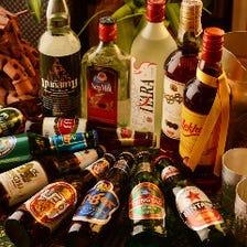 20種以上のアジアのお酒で南国気分♪