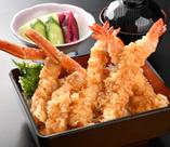 【和風メニュー③】蟹と海老の天重
